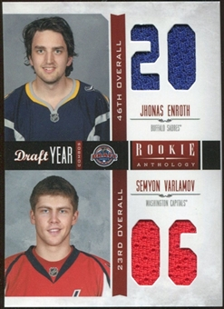 2011/12 Panini Rookie Anthology Draft Year Combo Jerseys #34 Jhonas Enroth/Semyon Varlamov