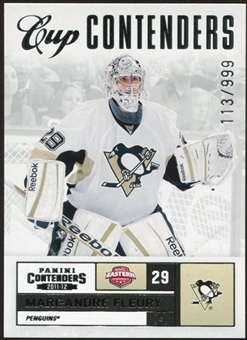 2011/12 Panini Contenders #126 Marc-Andre Fleury CC 113/999
