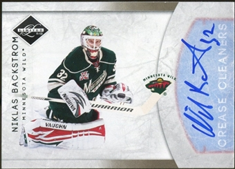 2011/12 Panini Limited Crease Cleaners Signatures #12 Niklas Backstrom Autograph 5/99