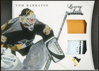 2011/12 Panini Luxury Suite #40 Tom Barrasso Jersey Stick