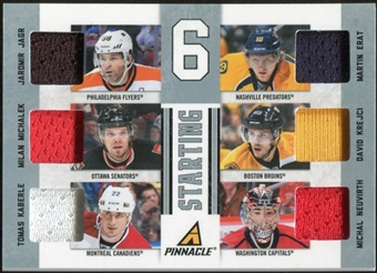2011/12 Panini Pinnacle Starting Six Threads #30 Jaromir Jagr/Martin Erat/Milan Michalek/David Krejci/Tomas Ka