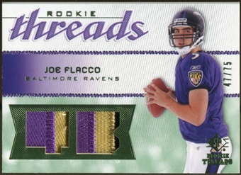 2008 Upper Deck SP Rookie Threads Rookie Threads Patch #RTJF Joe Flacco /75