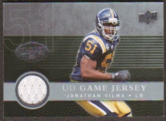 2008  Upper Deck Game Jerseys #UDGJJV Jonathan Vilma
