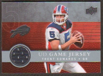 2008  Upper Deck Game Jerseys #UDGJTE Trent Edwards