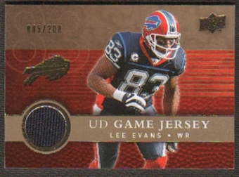 2008 Upper Deck Game Jerseys Gold #UDGJLE Lee Evans /200