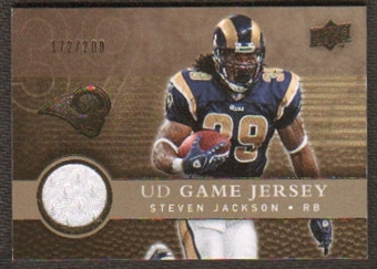 2008 Upper Deck Game Jerseys Gold #UDGJSJ Steven Jackson /200
