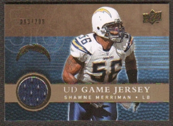 2008 Upper Deck Game Jerseys Gold #UDGJSM Shawne Merriman /200