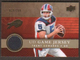 2008 Upper Deck Game Jerseys Gold #UDGJTE Trent Edwards /200
