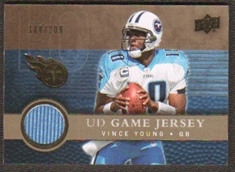 2008 Upper Deck Game Jerseys Gold #UDGJVY Vince Young /200