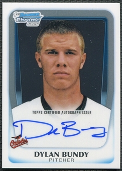 2011 Topps Bowman Chrome Dylan Bundy Rookie Autograph #BCAP-DB