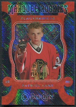 2007/08 Upper Deck O-Pee-Chee OPC Micromotion Black #518 Patrick Kane 54/100 RC