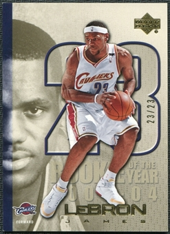 2005/06 Upper Deck LeBron James Gold #LJ36 LeBron James 23/23