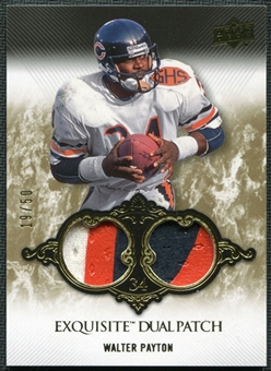 2008 Upper Deck Exquisite Collection Patch Duals #EP16 Walter Payton 19/50
