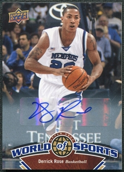 2010 Upper Deck World of Sports Derrick Rose Autograph #5
