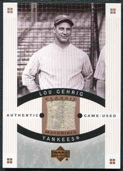 2005 Upper Deck Sweet Spot Classic Materials #LG Lou Gehrig Pants SP