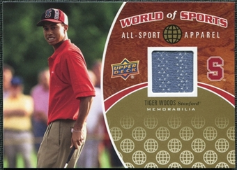 2010 Upper Deck World of Sports RARE Tiger Woods Memorabilia/Jersey #ASA-17