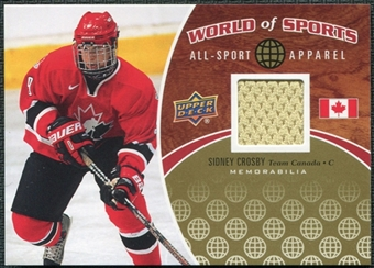 2010 Upper Deck World of Sports RARE Sidney Crosby Jersey/Memorabilia #ASA-34
