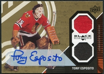 2011/12 Upper Deck Black Diamond Tony Esposito Dual Jersey Auto /5