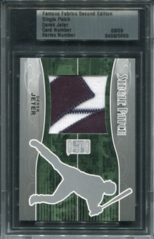 2010 Famous Fabrics Derek Jeter Yankees Patch serial # 8/9!