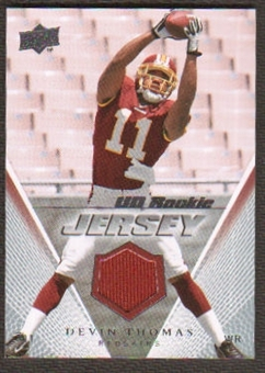 2008 Upper Deck Rookie Jerseys #UDRJDT Devin Thomas