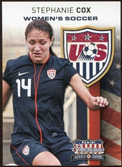 2012 Panini Americana Heroes and Legends US Women's Soccer #20 Stephanie Cox