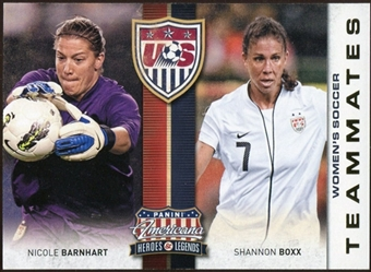 2012 Panini Americana Heroes and Legends US Women's Soccer Teammates #11 Nicole Barnhart/Shannon Boxx