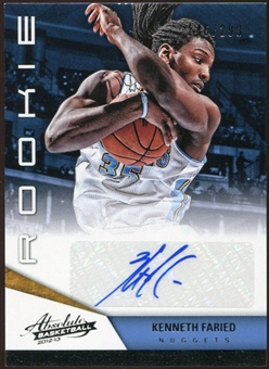 2012/13 Panini Absolute #170 Kenneth Faried Autograph 146/299