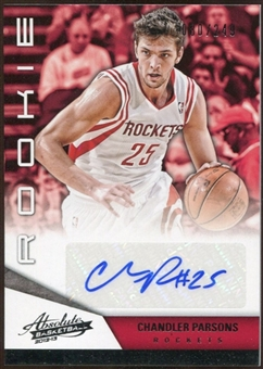 2012/13 Panini Absolute #220 Chandler Parsons Autograph 80/249