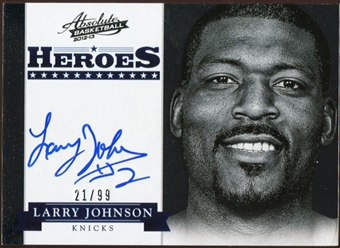 2012/13 Panini Absolute Heroes Autographs #28 Larry Johnson 21/99