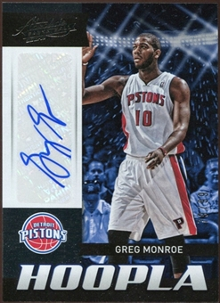 2012/13 Panini Absolute Hoopla Autographs #8 Greg Monroe 79/99
