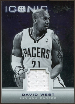2012/13 Panini Absolute Iconic Materials #21 David West 10/25
