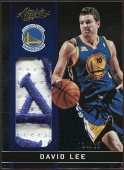 2012/13 Panini Absolute Patches #22 David Lee 14/25