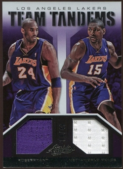 2012/13 Panini Absolute Team Tandem Materials #15 Kobe Bryant/Metta World Peace 39/49