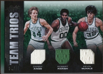 2012/13 Panini Absolute Team Trios Materials #18 Robert Parish Kevin McHale Danny Ainge 4/10