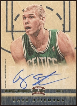 2012/13 Panini Threads #199 Greg Stiemsma Autograph