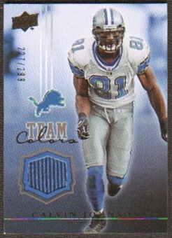 2008 Upper Deck Team Colors Jerseys Gold #TCCJ Calvin Johnson /299