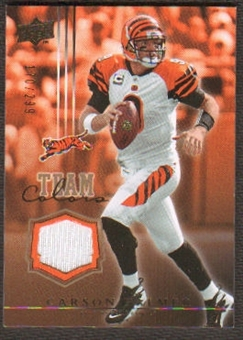 2008 Upper Deck Team Colors Jerseys Gold #TCCP Carson Palmer /299