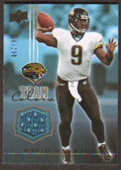 2008 Upper Deck Team Colors Jerseys Gold #TCDG David Garrard /299