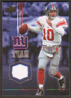 2008 Upper Deck Team Colors Jerseys Gold #TCEM Eli Manning /299