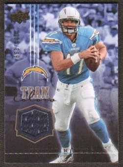 2008 Upper Deck Team Colors Jerseys Gold #TCPR Philip Rivers /299