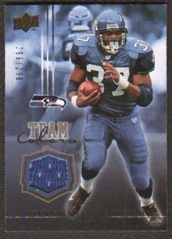 2008 Upper Deck Team Colors Jerseys Gold #TCSA Shaun Alexander /299