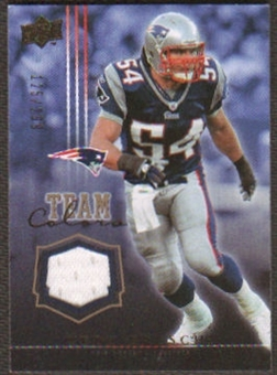 2008 Upper Deck Team Colors Jerseys Gold #TCTB Tedy Bruschi /299