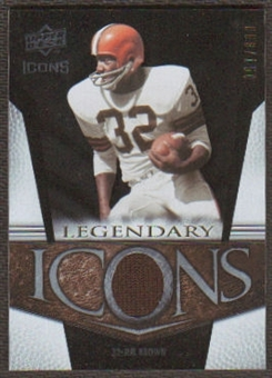 2008 Upper Deck Icons Legendary Icons Jersey Silver #LI10 Jim Brown /150