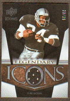 2008 Upper Deck Icons Legendary Icons Jersey Gold #LI3 Bo Jackson /25