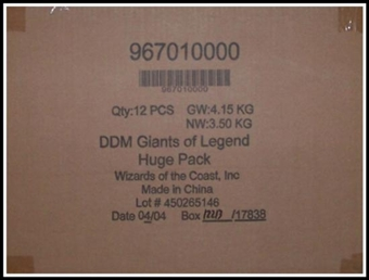 WOTC Dungeons & Dragons Miniatures Giants of Legend Booster Case (12 ct.)