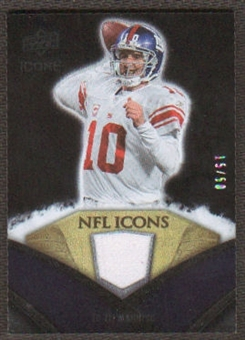 2008 Upper Deck Icons NFL Icons Jersey Gold #NFL21 Eli Manning /50
