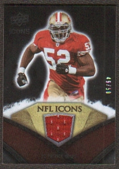 2008 Upper Deck Icons NFL Icons Jersey Gold #NFL39 Patrick Willis /50