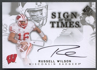 2012 SP Authentic #STRW Russell Wilson Sign of the Times Auto