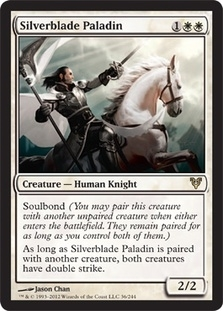 Magic the Gathering Avacyn Restored Single Silverblade Paladin Foil