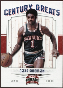 2012/13 Panini Threads Century Greats #22 Oscar Robertson